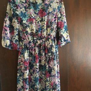 Guess full length floral kimono